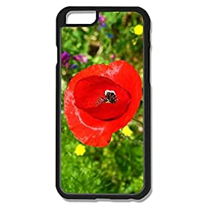 Fantastic Red Flower Hard Cover For IPhone 6