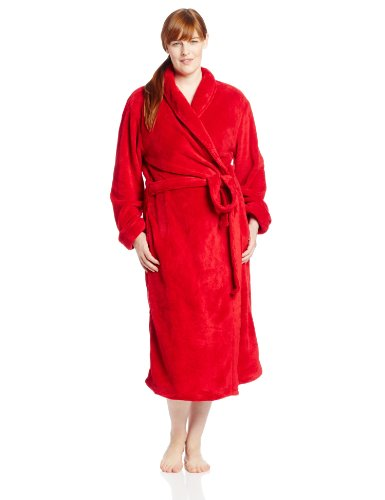 Casual Moments Women's 50 Inch Set-In Belt Wrap, Red, 1X