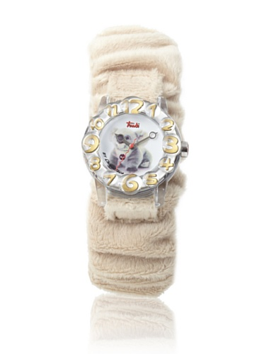 Trudi Kid's Fuzzy Band Koala Watch, Beige by Trudi