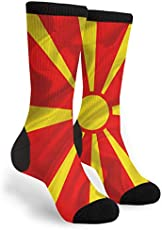 4c690480fe83 Macedonian Flag Macedonia Silk Flag National Symbols Europe Novelty Socks  For Women   Men One Size - Gifts