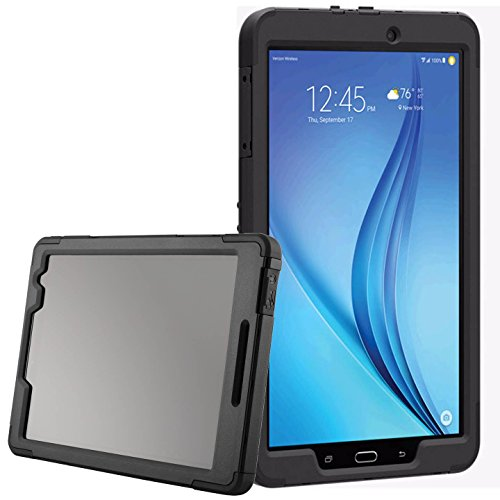 Samsung Tab e 8.0 case With Built In Screen Protector Heavy Duty Slim Design Black (SOLVEIG)