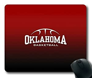 Oklahoma Basketball on Red Rectangle Mouse Pad by eeMuse