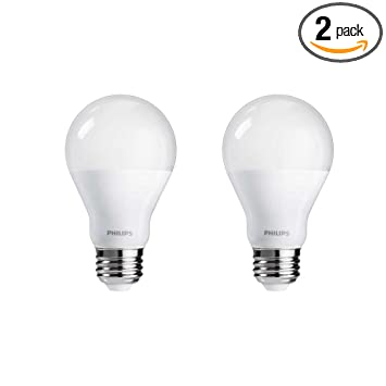 Dimmable Warm Led Light Bulbs: Philips 455931 60 Watt Equivalent A19 LED Light Bulb Dimmable Warm Glow,  Frustration Free,,Lighting