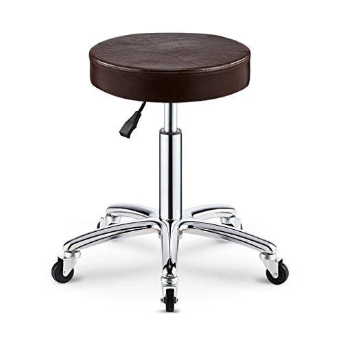Duzhengzhou Adjustable Rolling Pneumatic Stool for Massage Tables, Examination Tables, and Physician's Office (Black) (Color : 5) (Adjustable Physician Stool)