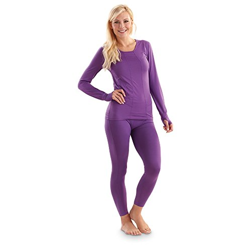 Women's Terramar Thermolator Top, PURPLE RAIN, M