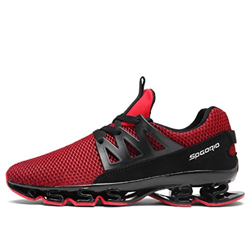 Mode de Sneakers EU 45 1 Course Lanchengjieneng Adulte Rouge de Baskets Noir Gym Outdoor Fitness Running Chaussures Multisports 6 0pY0wCq
