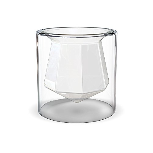 - Fancy That 5229569 Faceted Gem Double-Wall Shot Glass, 2.5oz, Assorted