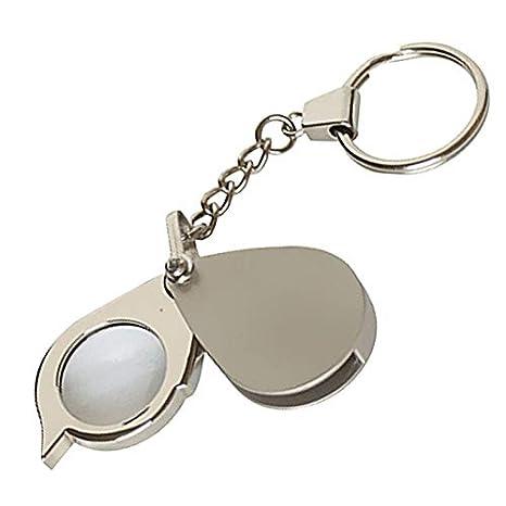 Lupa de bolsillo 3X tipo llavero: Amazon.es: Electrónica