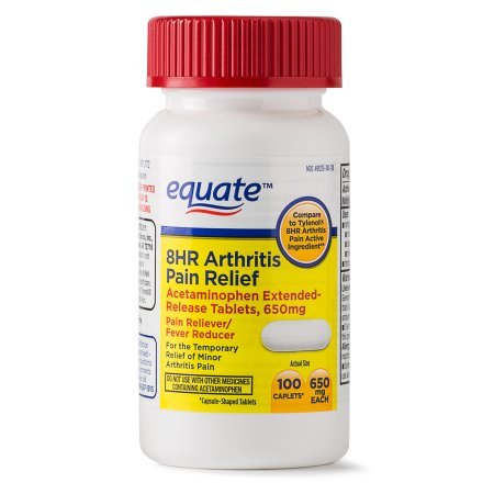 Equate Arthritis Pain Relief Extended Release Caplets, 650 mg, 100 Ct -