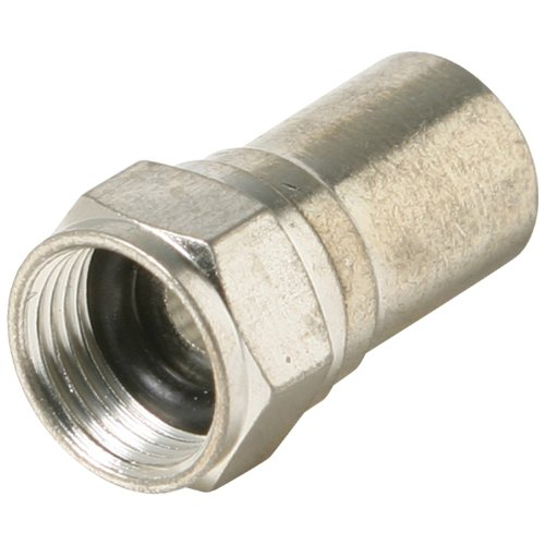 - Steren F-Taper-Seal RG6 Connectors, 100 Pk Home Audio Crossover, Silver (200-029)