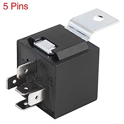 X AUTOHAUX 5pcs 5 Pin DC 24V 40A Universal Car Relay Switch Power Starter with Mounting Tab: Automotive