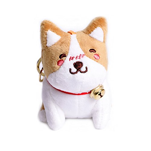 HAWORTHS Plush Corgi Keychain, Cute Corgi Dolls Stuffed Animal Toy Keychain for Boys Girls Kids Children Adults, Super Adorable Dog Key Ring