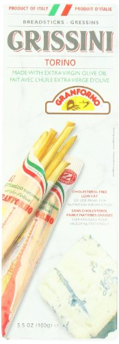 Breadsticks Granforno (Granforno Grissini Breadsticks, Torino, 3.5-Ounce Boxes (Pack of 12))