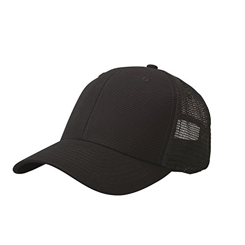 Ouray Sportswear Soft Mesh Sideline Cap, Black/Black, Adjustable (Sideline Cap Baseball)