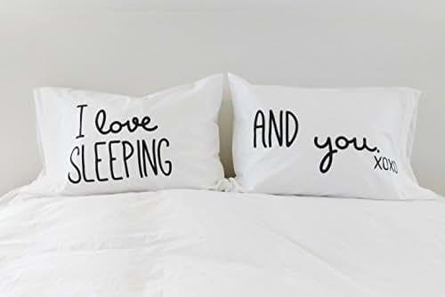 Amazon.com: Funny Pillowcases Couples Pillow Cases I Love ...