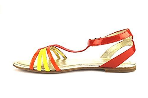 HOGAN sandali donna arancione giallo vernice AH701