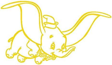 Dumbo-Pegatinas Prespaziato-color amarillo-20 cm: Amazon.es: Coche y moto