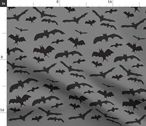 Bats Fabric - Halloween Nocturnal Halloween Bats Spooky