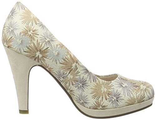 Marco Tozzi Damen 22441 Pumps Beige (CREAM FLOWER 449)