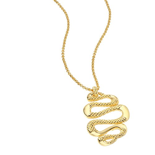 Just Cavalli Snake Pendant Necklace in Gold-Plated Stainless Steel