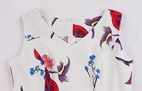Aecibzo Taille Plus Des Femmes Vintage Des Années 1950 Rétro Rockabilly Oiseau Robes De Bal Swing