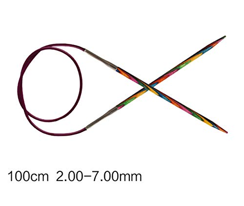 Knit Pro Symfonie 100cm Length Fixed Circular Birch Wood Knitting Needles (100cm-2.25mm)