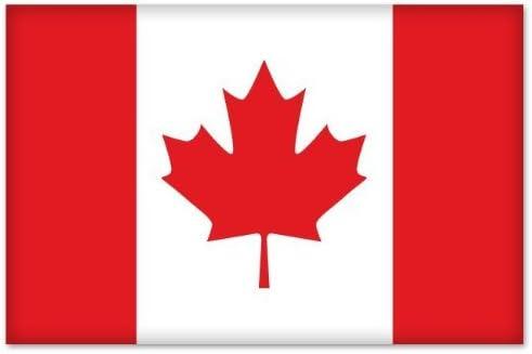 Canada Flag Hockey Crest Car Bumper Sticker Decal 5/'/' x 4/'/'