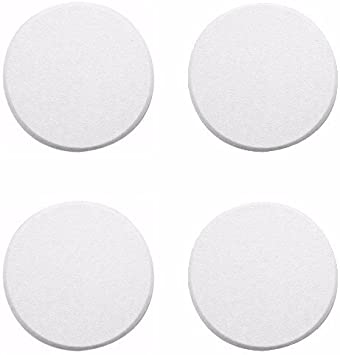 Pack of 2 Wideskall White Round Door Knob Wall Shield Self Adhesive Protector