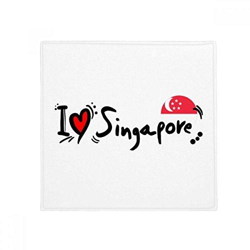 DIYthinker I Love Singapore Word Flag Love Heart Illustration Anti-Slip Floor Pet Mat Square Home Kitchen Door 80cm Gift