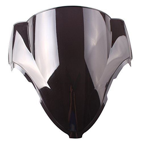 GZYF Smoke Double Bubble Windscreen Windshield Fit Suzuki Hayabusa GSX1300R 99-07 ()