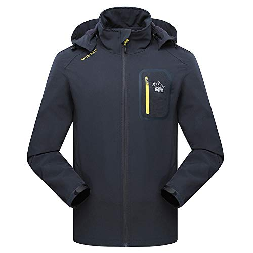 Insulated Tundra Jacket (Simmia Sport Outerwear Jacket Coat,Windproof Mountaineering Jacket, Thin Section, Couple Outdoor Waterproof, Breathable Single Layer, Male: Dark Gray, M)