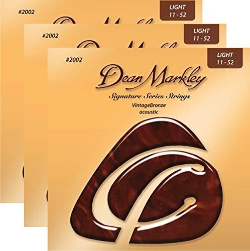 Dean Markley Signature Vintage Bronze Acoustic Strings, 11-52 - Bronze Vintage Markley Dean