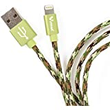 V-SMART 3.3ft Premium Double-Braided Nylon Lightning Cable, Apple MFi Certified for iPhone(Camouflage Green)