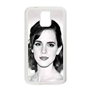 Celebrities Emma Watson Black And WhitePortrait Samsung Galaxy S5 Cell Phone Case White phone component RT_351438