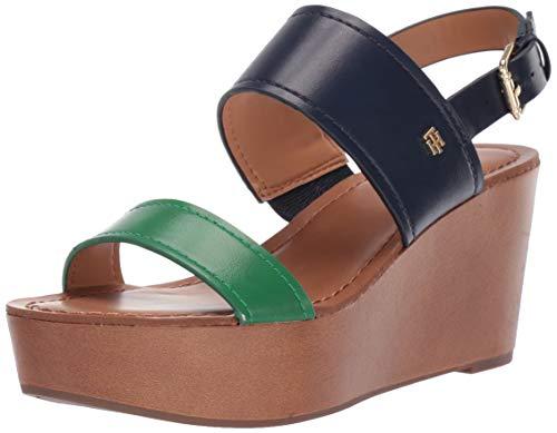 Tommy Hilfiger Women's Wilder Wedge Sandal Navy 8 M US (Tommy Hilfiger Navy Blue Sandals)