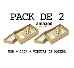 Luglez Pack de 2 USB (16 GB) para Fotógrafos Botella de Cristal ...