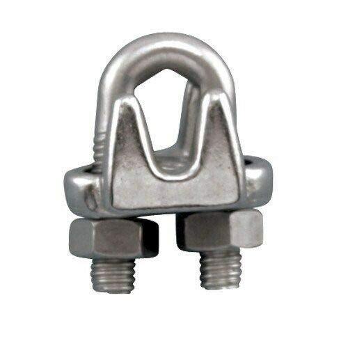 (S0122-FS07) 10 Stainless Steel 304 Wire Rope Clips, 1/4'' by IM VERA