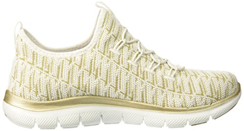 White Sneaker Donna 2 gold 0 Infilare Appeal insights Flex Skechers qwfOPSZ