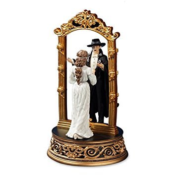 (Phantom and Christine Mirror Figurine by The San Francisco Music Box Company)