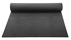 YogaAccessories 1/8'' Lightweight Classic Yoga Mat and Exercise Pad - Black