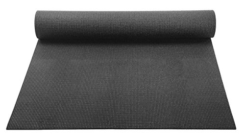 (YogaAccessories 1/8'' Lightweight Classic Yoga Mat and Exercise Pad - Black)