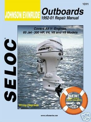 Seloc Service Manual - Johnson/Evinrude - All V Engines - 1992-01 ()