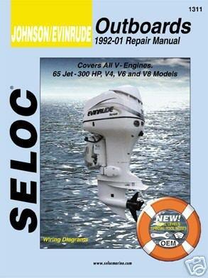 Johnson Evinrude Outboard, V4, V6, & V8, 1992-2001 Repair Manual