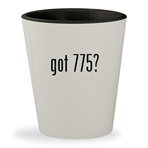 got 775? - White Outer & Black Inner Ceramic 1.5oz Shot Glass (Ddr2 Pentium Motherboard)