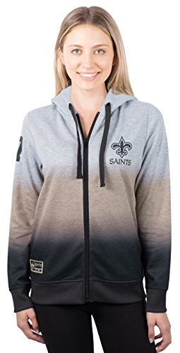 NFL Women's Full Zip Hoodie Sweatshirt Jacket Hombre, Team Logo Color – DiZiSports Store
