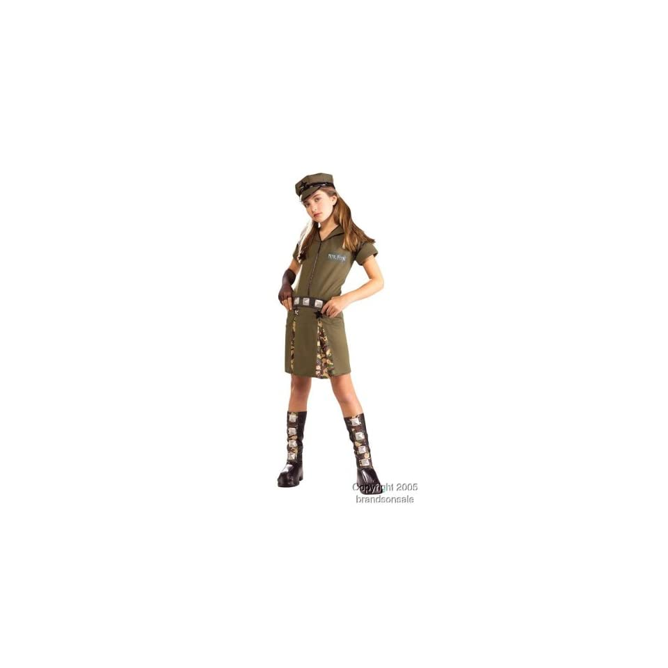Army Girl Costume For Children   Clothing & Accessories