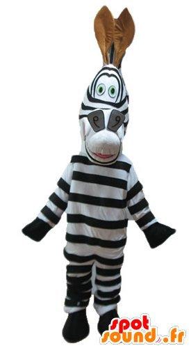Marty zebra mascotte spotsound amazon del famoso cartone animato