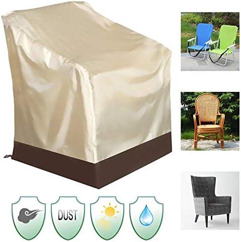 ガーデン家具カバー 屋外パティオ庭の家具保護防水ハイバックチェアカバー 屋外での使用に適しています (Color : Gold, Size : 67 x 73 x 84cm)