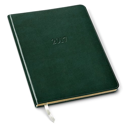 Gallery Leather Professional Weekly Planner Acadia Green