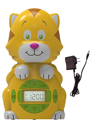 Big Red Rooster BRRC102AC Cat Projection Alarm Clock, Operates On An AC Adaptor (Included) or 3 C Batteries (Best Alarm Clock For 7 Year Old)